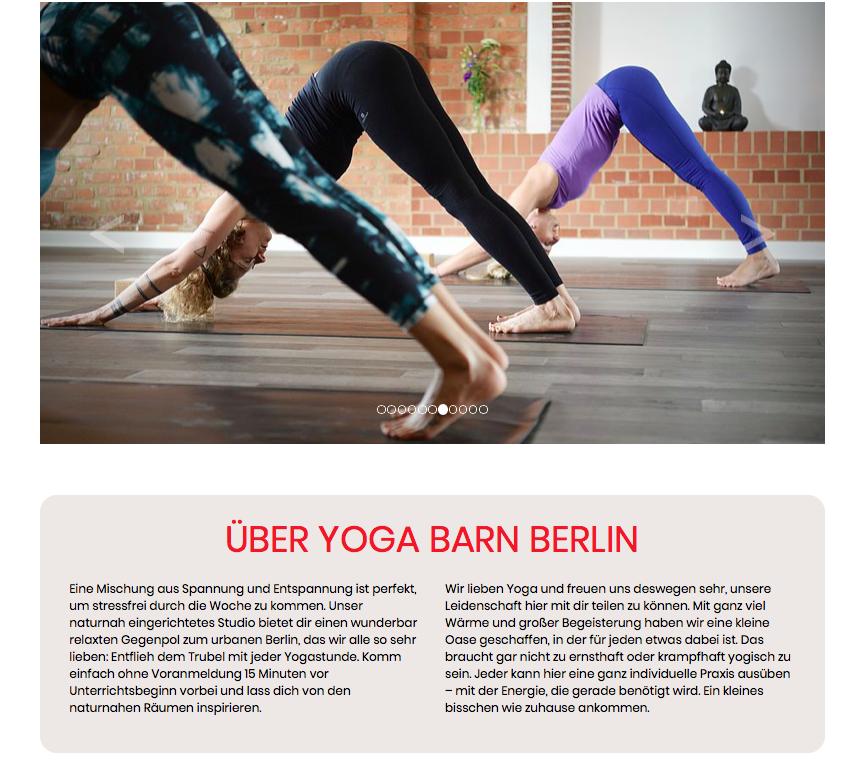 Website Texte fuer Yogastudio Sabine Neddermeyer freie Texterin